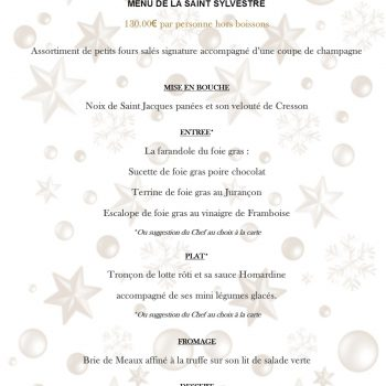 Menu nouvel an 2019